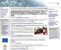 Online News - ngoCHR: A News Service for the UN Commission on Human Rights